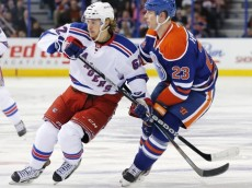 NHL: New York Rangers at Edmonton Oilers