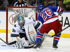 USP NHL: SAN JOSE SHARKS AT NEW YORK RANGERS S HKN USA NY