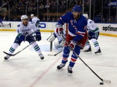 NHL: Vancouver Canucks at New York Rangers