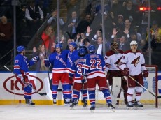 NHL: Arizona Coyotes at New York Rangers