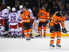 USP NHL: PHILADELPHIA FLYERS AT NEW YORK RANGERS S HKN USA NY