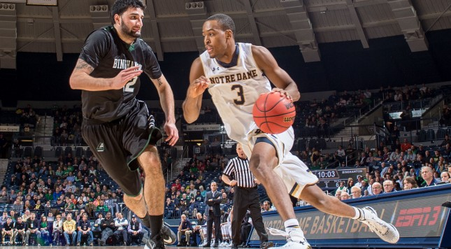 NCAA Basketball: Binghamton at Notre Dame