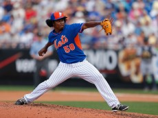 PORT ST. LUCIE, FL - MARCH 06: Jenrry Mejia #58 of the New York Mets pitches during the game against the Detroit Tigers at Tradition Field on March 6, 2015 in Port St. Lucie, Florida.  (Photo by Rob Foldy/Getty Images)
