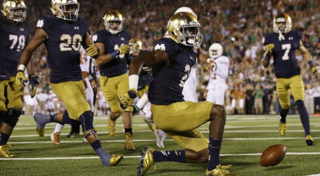notre dame texas chris brown