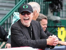 EUGENE, OR - JUNE 30:  Co-founder and chairman of Nike, Phil Knight attends day nine of the U.S. Olympic Track & Field Team Trials at the Hayward Field on June 30, 2012 in Eugene, Oregon.  (Photo by Christian Petersen/Getty Images)