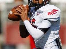 PULLMAN, WA - SEPTEMBER 08:  Quarterback Vernon Adams #16 of the Eastern Washington Eagles during pre-game warmup before the start against the Washington State Cougars at Martin Stadium on September 8, 2012 in Pullman, Washington.  (Photo by William Mancebo/Getty Images)