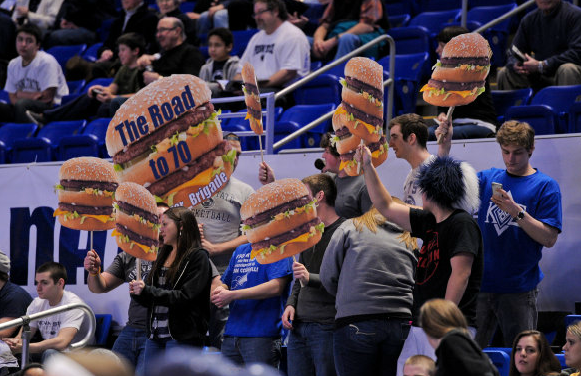 Penn State fans cheer for Big Macs