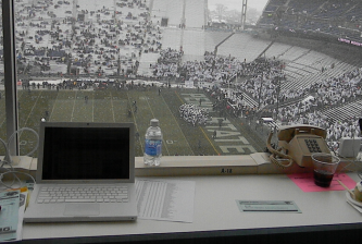 View from Penn State press box