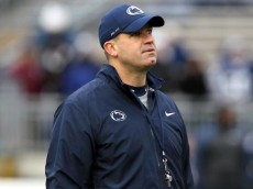Nov 23, 2013; University Park, PA, USA; Penn State Nittany Lions head coach Bill O'Brien prior to the game against the Nebraska Cornhuskers at Beaver Stadium. Mandatory Credit: Matthew O'Haren-USA TODAY Sports