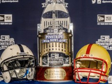 Penn State and Boston College will participate in the New Era Pinstripe Bowl to be held in Yankee Stadium on December 27, 2014 where the winner will take home the George Steinbrenner Championship Trophy.  Photo by Mark Selders