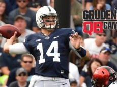Christian Hackenberg (14)  in the second quarter of the Nittany Lions game against the Aztecs of San Diego State on Sept. 26, 2015.  Photo by Mark Selders