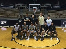 14-15 Purdue Basketball Haase is tall