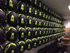 Purdue special black yellow helmets