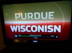 Purdue Wisconsin screen misspelled