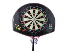 Basketball dart board