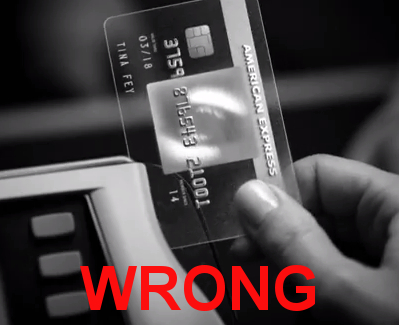 American Express Wrong Way