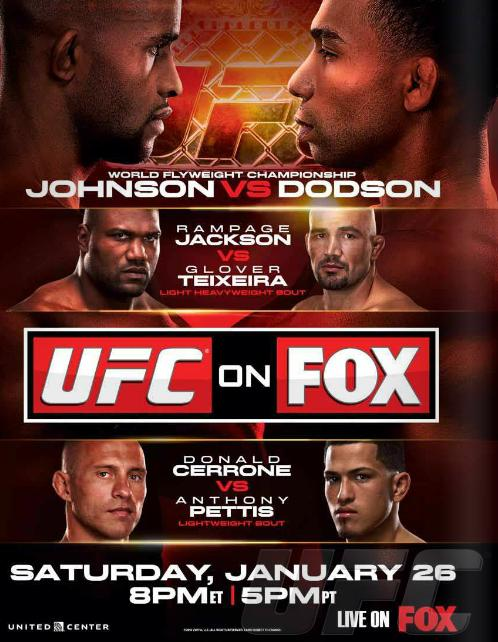 ufc on fox: johnson vs dodson poster