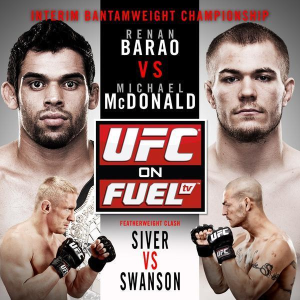 ufc on fuel tv: barao vs mcdonald official poster