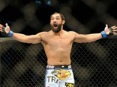johny hendricks celebrating martin kampmann win
