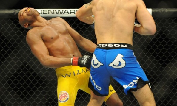 Chris Weidman knocking out Anderson Silva at UFC 162
