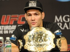 Chris Weidman with championship belt - Jayne Kamin-Oncea-USA TODAY Sports