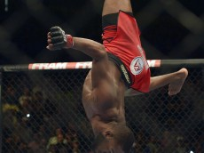 jon jones doing a flip at ufc 172
