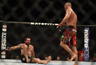 robbie lawler knocks down matt brown ufc on fox: lawler vs brown