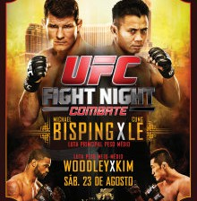 ufc fight night bisping ve le fight card poster