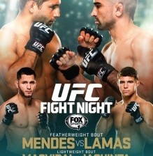 mendes vs lamas fight card