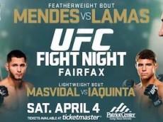 mendes vs lamas fight card