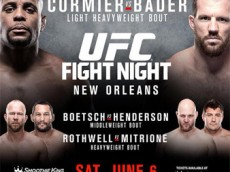 UFC Fight Night: Cormier vs Bader Fight Card