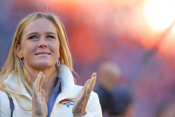 DENVER, CO - JANUARY 3:  Mixed martial artist Holly Holm, who competes in the Ultimate Fighting Championship bantamweight division, looks on during a game between the Denver Broncos and the San Diego Chargers at Sports Authority Field at Mile High on January 3, 2016 in Denver, Colorado. (Photo by Justin Edmonds/Getty Images)