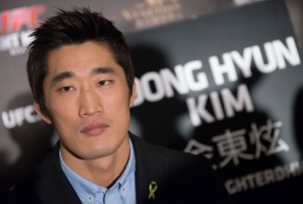 HONG KONG - AUGUST 20:  UFC welterweight fighter Dong Hyun Kim at the Macao UFC Fight Night Press Conference at the Four Season Hotel on August 20, 2014 in Hong Kong.  (Photo by Anthony Kwan/Getty Images)