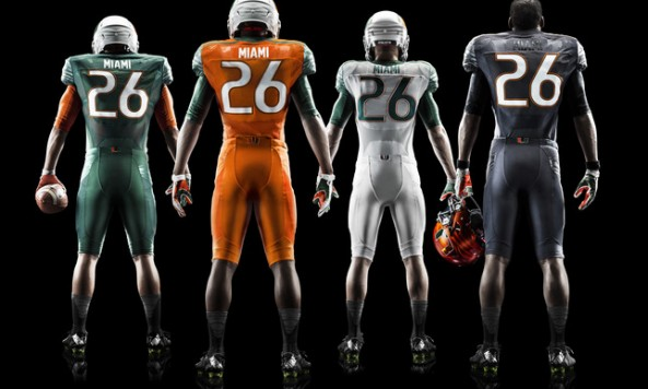 Nike Miami Hurricanes 2014 Football Uniforms