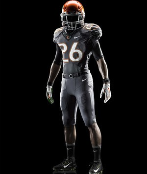 Nike Miami Hurricanes 2014 Football Uniform - Smoke