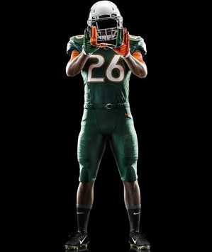 Nike Miami Hurricanes 2014 Football Uniform - Surge