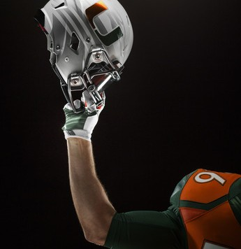 Nike Miami Hurricanes 2014 Football Helmet