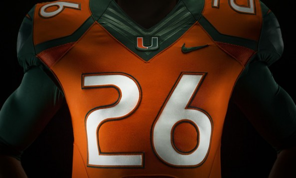 Nike Miami Hurricanes 2014 Football Uniform