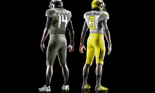 "Nike Oregon Ducks 2014 Spring Football ""Salute The Day"" Uniforms"