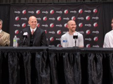 Trail Blazers Introduce Chris Kaman and Steve Blake
