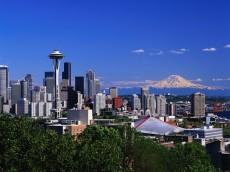 Seattle, Washington and Mount Rainier