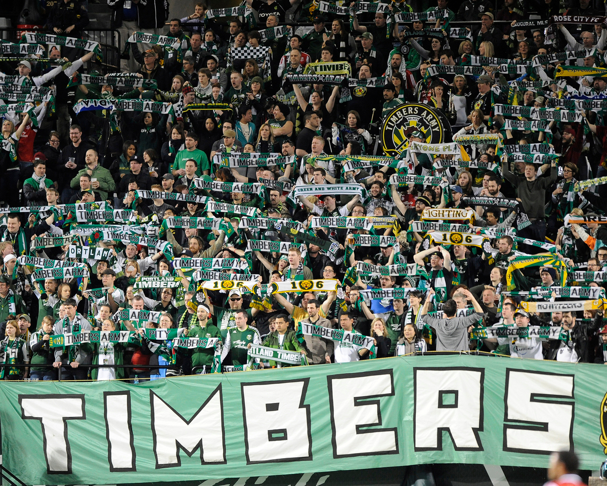 Portland Timbers vs Chivas USA during the MLS competition at Jeld-Wen Field, Portland Oregon, April 7, 2012.  The Portland Timbers were defeat by Chivas USA 1-2.