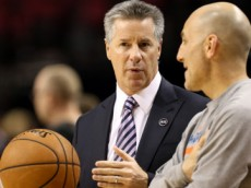 Feb. 27, 2015 - Portland Trailblazers general manager, NEIL OLSHEY before the game. The Portland Trail Blazers play the Oklahoma City Thunder at the Moda Center on February 27, 2015