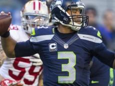 Seahawks quarterback Russell Wilson during second half action at CenturyLink Field Sunday, Nov. 22, 2015.