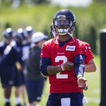 Quarterback Trevone Boykin participates in Rookie Minicamp at the VMAC Friday.  The Seattle Seahawks Rookie Minicamp opened Friday, May 6, 2016 at the VMAC in Renton, WA.  (Dean Rutz / The Seattle Times)