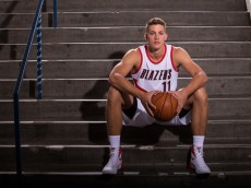 PORTLAND, OR - SEPTEMBER 28:  of the Portland Trail Blazers poses for photos during the team's annual Media Day September 28, 2015 at the Moda Center in Portland, Oregon. NOTE TO USER: User expressly acknowledges and agrees that, by downloading and or using this photograph, User is consenting to the terms and conditions of the Getty Images License Agreement. Mandatory Copyright Notice: Copyright 2015 NBAE (Photo by Sam Forencich/NBAE via Getty Images)