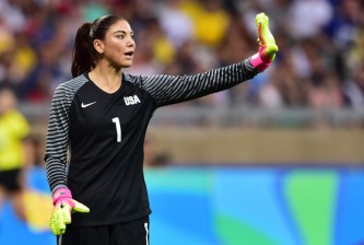 Mandatory Credit: Photo by Brad Smith/ISI/REX/Shutterstock (5822946ag) Hope Solo Rio Olympics, Football, Women's, Group, USA v China- 06 Aug 2016 Belo Horizonte, Brazil - Saturday, August 6, 2016: The USWNT take on France in Group G play during the 2016 Olympics at Mineirão stadium.