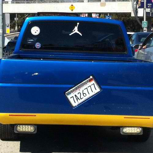 This Dude Loves Crooked License Plates And Michael Jordan