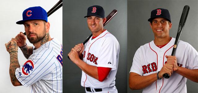 Ryan Roberts (L), Will Middlebrooks (C), Garin Cecchini (R)