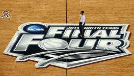 Head coach Kevin Ollie of the Connecticut Huskies on the court during practice ahead of the 2014 NCAA Men's Final Four at AT&T Stadium on April 4, 2014 in Arlington, Texas.